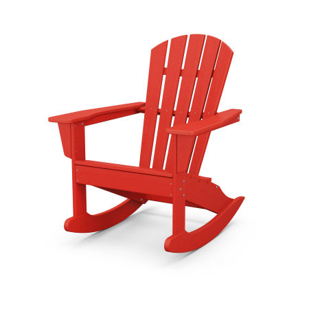 Palm Coast Adirondack Rocking Chair in Sunset Red