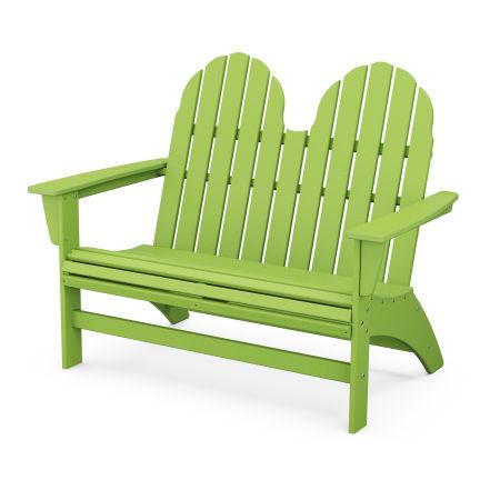 """Vineyard 48"""" Adirondack Bench in Lime"""
