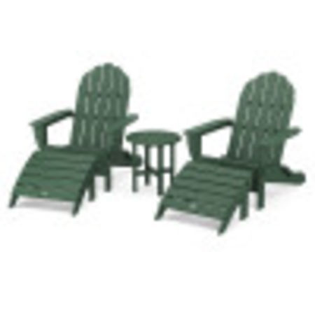 Classic Oversized Adirondack 5-Piece Casual Set in Green