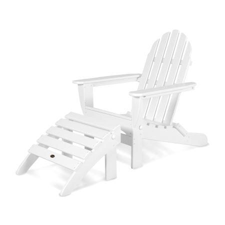 Classic Adirondack 2-Piece Set in White