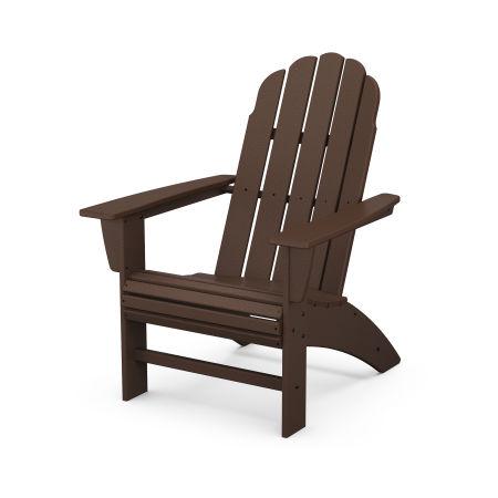 Vineyard Curveback Adirondack Chair in Mahogany