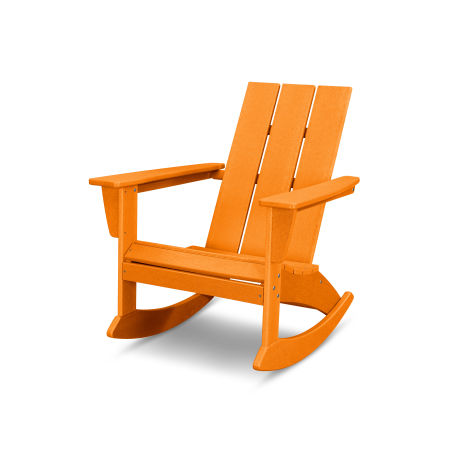 Modern Adirondack Rocking Chair in Vintage Tangerine