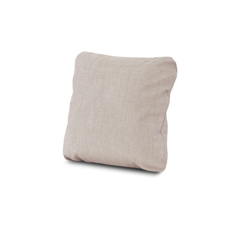"18"" Outdoor Throw Pillow in Cast Ash"