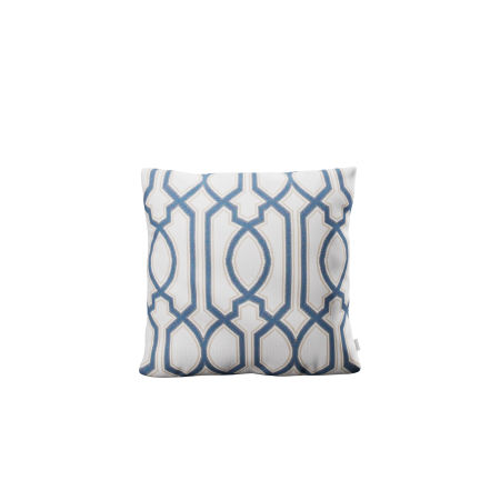 """16"""" Outdoor Throw Pillow by POLYWOOD® in Chelsey Trellis Cobalt"""