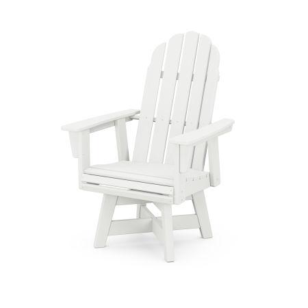 Vineyard Adirondack Swivel Dining Chair in Vintage White