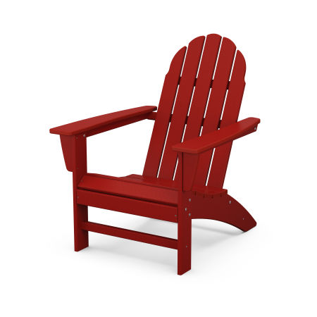 Vineyard Adirondack Chair in Crimson Red