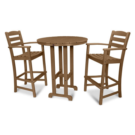 La Casa Café 3-Piece Bar Set in Teak