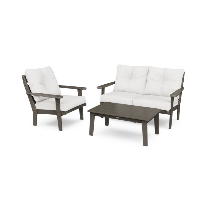Lakeside 3-Piece Deep Seating Set in Vintage Finish