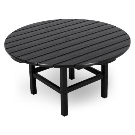 """Round 38"""" Conversation Table by Ivy Terrace in Black"""