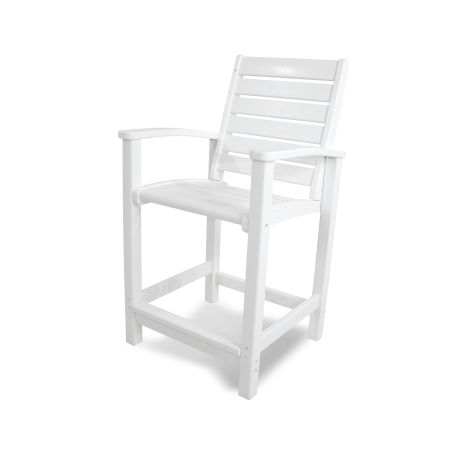 Signature Counter Chair in White