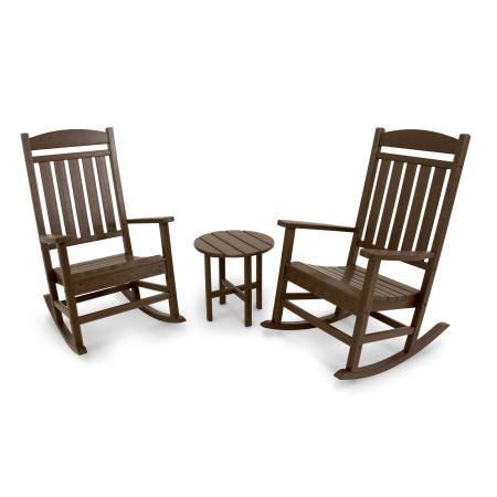 Classics 3-Piece Rocker Seating Set in Mahogany