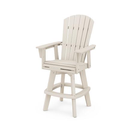 Nautical Adirondack Swivel Bar Chair in Sand
