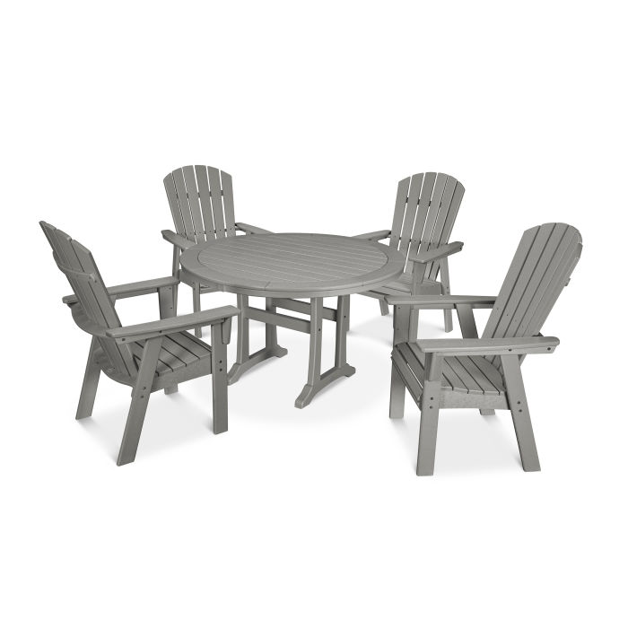 Nautical Adirondack 5-Piece Round Trestle Dining Set