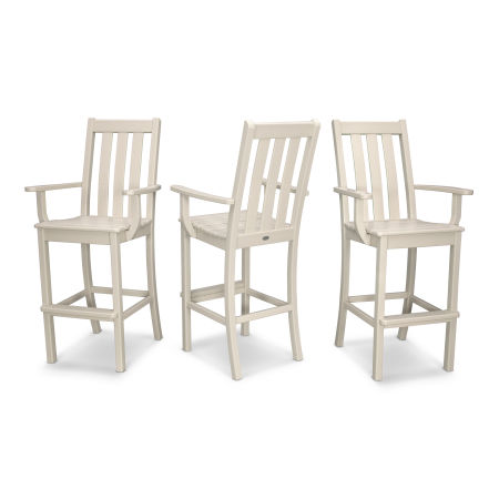 Vineyard Bar Arm Chair 3-Pack in Sand
