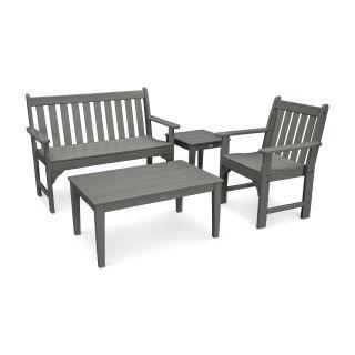 Vineyard 4-Piece Bench Seating Set
