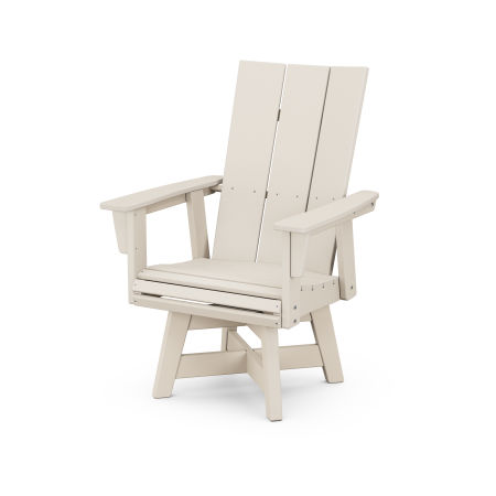 Modern Adirondack Swivel Dining Chair in Sand