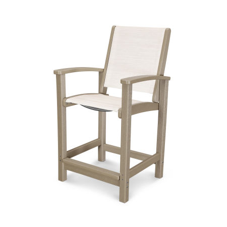 Coastal Counter Chair in Vintage Sahara / Parchment Sling