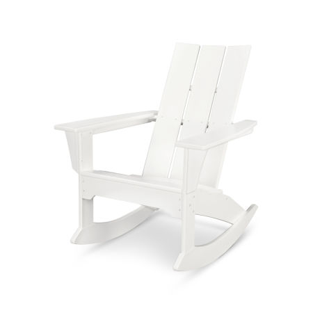 Modern Adirondack Rocker in White