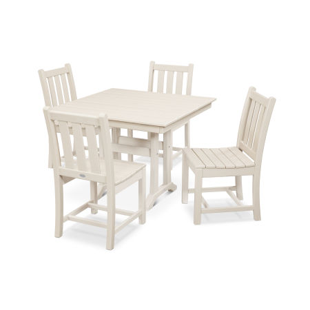 Traditional Garden 5-Piece Farmhouse Dining Set in Sand