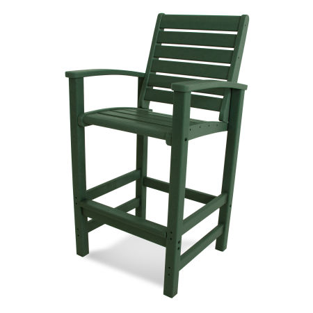 Signature Bar Chair in Green