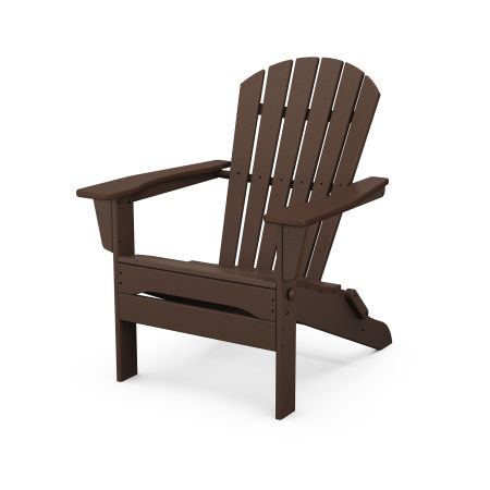 South Beach Folding Adirondack Chair in Mahogany