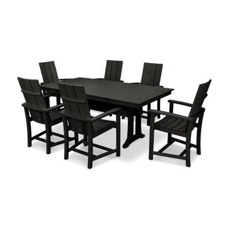 Adirondack 7-Piece Farmhouse Dining Set in Black