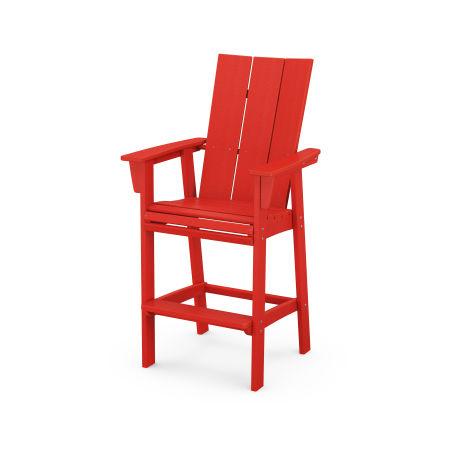 Modern Adirondack Bar Chair in Sunset Red