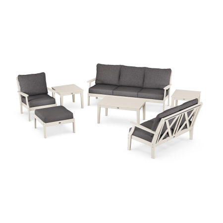 Braxton 7-Piece Deep Seating Set in Sand / Ash Charcoal