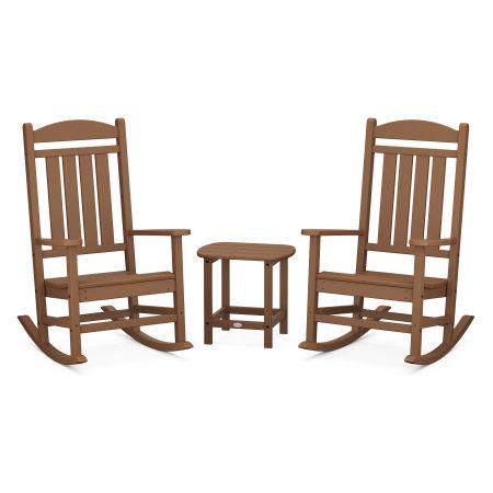 Presidential Rocking Chair 3-Piece Set in Teak