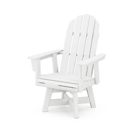 Vineyard Adirondack Swivel Dining Chair in White