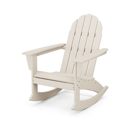 Vineyard Adirondack Rocking Chair in Sand