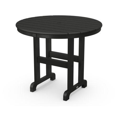 """La Casa Café Round 36"""" Dining Table in Black"""
