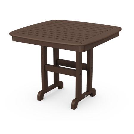 "Nautical 37"" Dining Table in Mahogany"