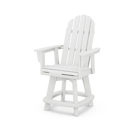 Vineyard Adirondack Swivel Counter Chair in White