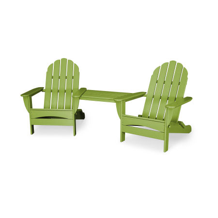 Classic Oversized Adirondack Tete-a-Tete Set in Lime