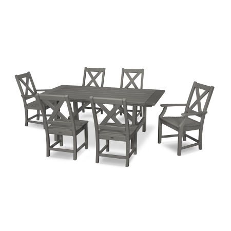 Braxton 7-Piece Rustic Farmhouse Dining Set