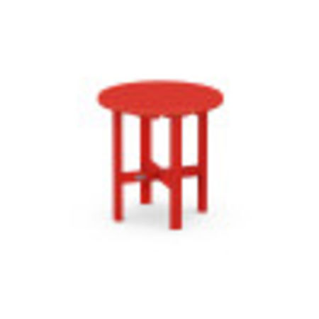 "Round 18"" Side Table in Sunset Red"