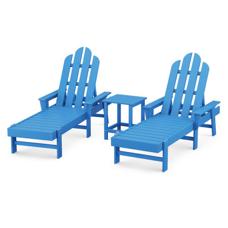 Long Island Chaise 3-Piece Set in Pacific Blue