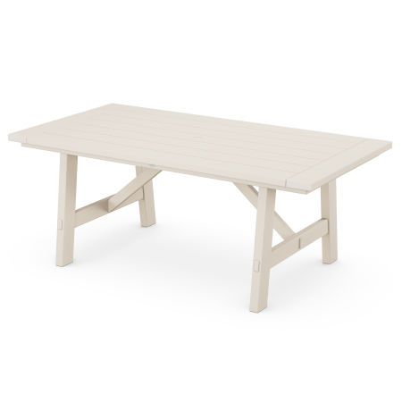 "Rustic Farmhouse 39"" x 75"" Dining Table in Sand"