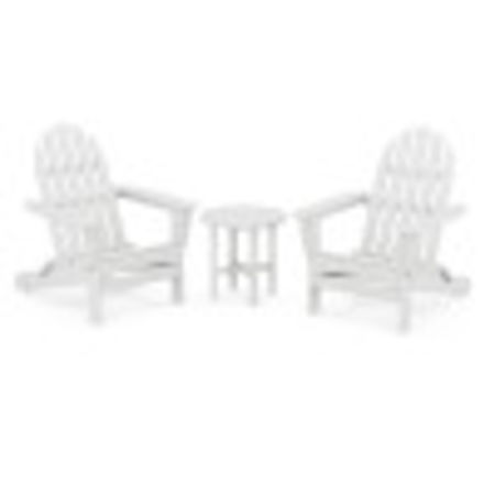 Classic Adirondack Folding Adirondack 3-Piece Set in White