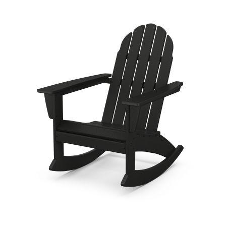 Vineyard Adirondack Rocking Chair in Black