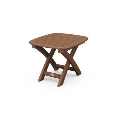 "Nautical 21"" x 18"" Side Table in Teak"