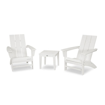 Modern Adirondack 3-Piece Set in White