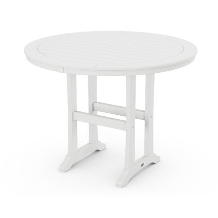 """48"""" Round Counter Table in White"""