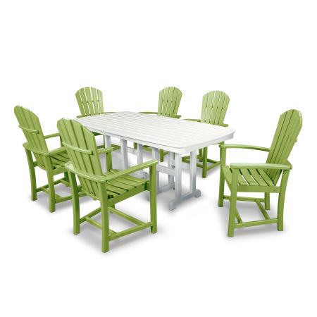 Palm Coast 7-Piece Dining Set in Lime / White