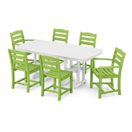 La Casa Café 7-Piece Dining Set in Lime