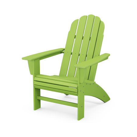 Vineyard Curveback Adirondack Chair in Lime