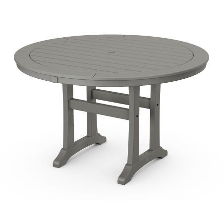 "Nautical Trestle 48"" Round Dining Table"