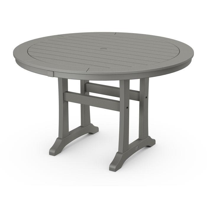"Nautical Trestle 48"" Round Dining Table"