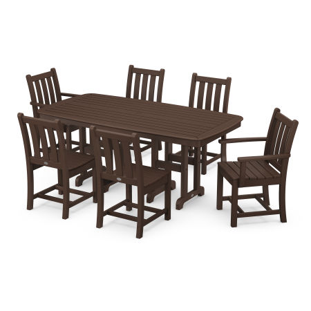Traditional Garden 7-Piece Dining Set in Mahogany